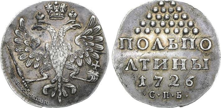 рубль 1725 г