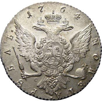 монеты Екатерины 2, рубль, реверс