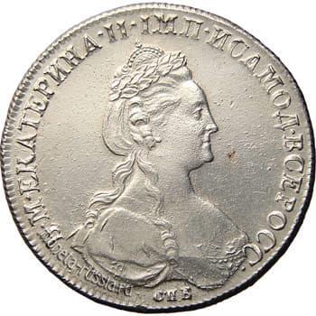 Екатерина 2, монеты позднего типа