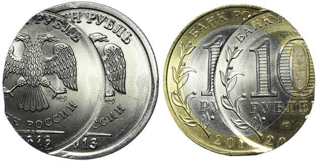 Редко попадающиеся современные монеты россии