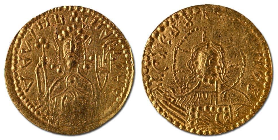 Золотая монета на руси 8 букв 500 тенге денга 2004г в